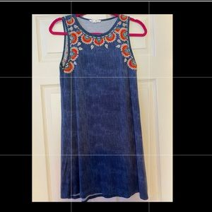 THML Embroidered Dress NWOT XS